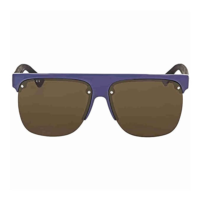 Gucci GG0171S 004 Gafas de Sol, Azul (4/Brown), 60 para ...