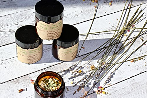 Organic Clearing Nourishing Herbal Facial Steam, Replenishing Organic Bath Soak, Gifts for Her / Him, Natural Lavender Rose Petals Chamomile by Gaia Oak Bee