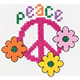 Bucilla My 1st Stitch Mini Counted Cross Stitch Kit, 45424 Peace