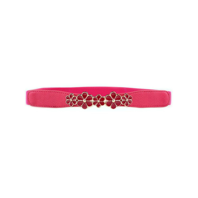 Deercon Women Fashion Elastic Waistband Leather Belt (5 Colors)