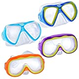 ''Safety First'' Splash-N-Swim Child-Sized Swim Masks Goggles Assortment! (Set of 4)