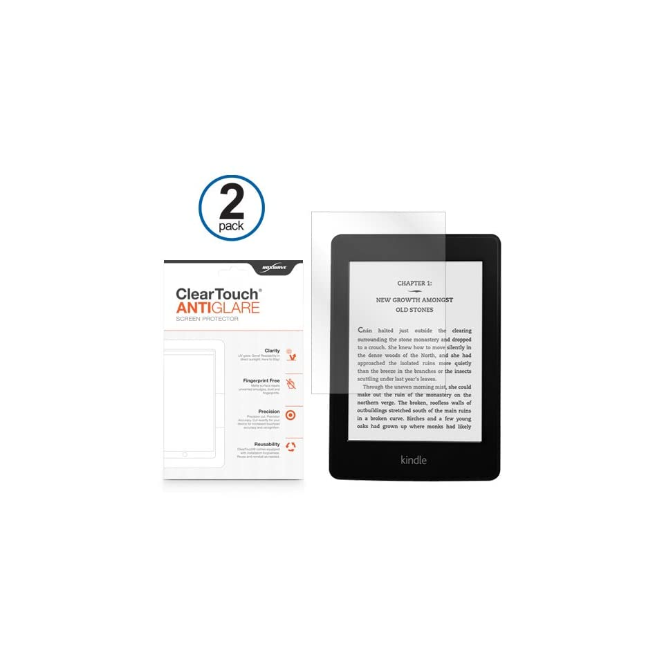 Kindle Paperwhite Screen Protector, BoxWave® [ClearTouch Anti Glare (2 Pack)] Anti Fingerprint Matte Film Skin for  Kindle Paperwhite, Keyboard 3G