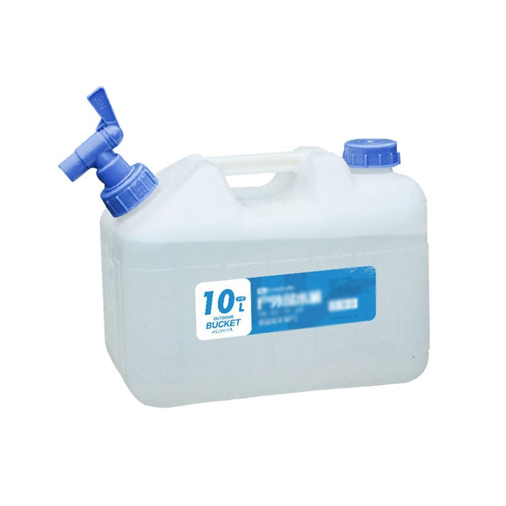 Water Container, 10L/15L/18L/23L Plastic Storage Tank with Faucet Portable Cubic Water Container Camping Car Bucket Household Pure Bucket (Size : 10L) by QING MEI-bucket