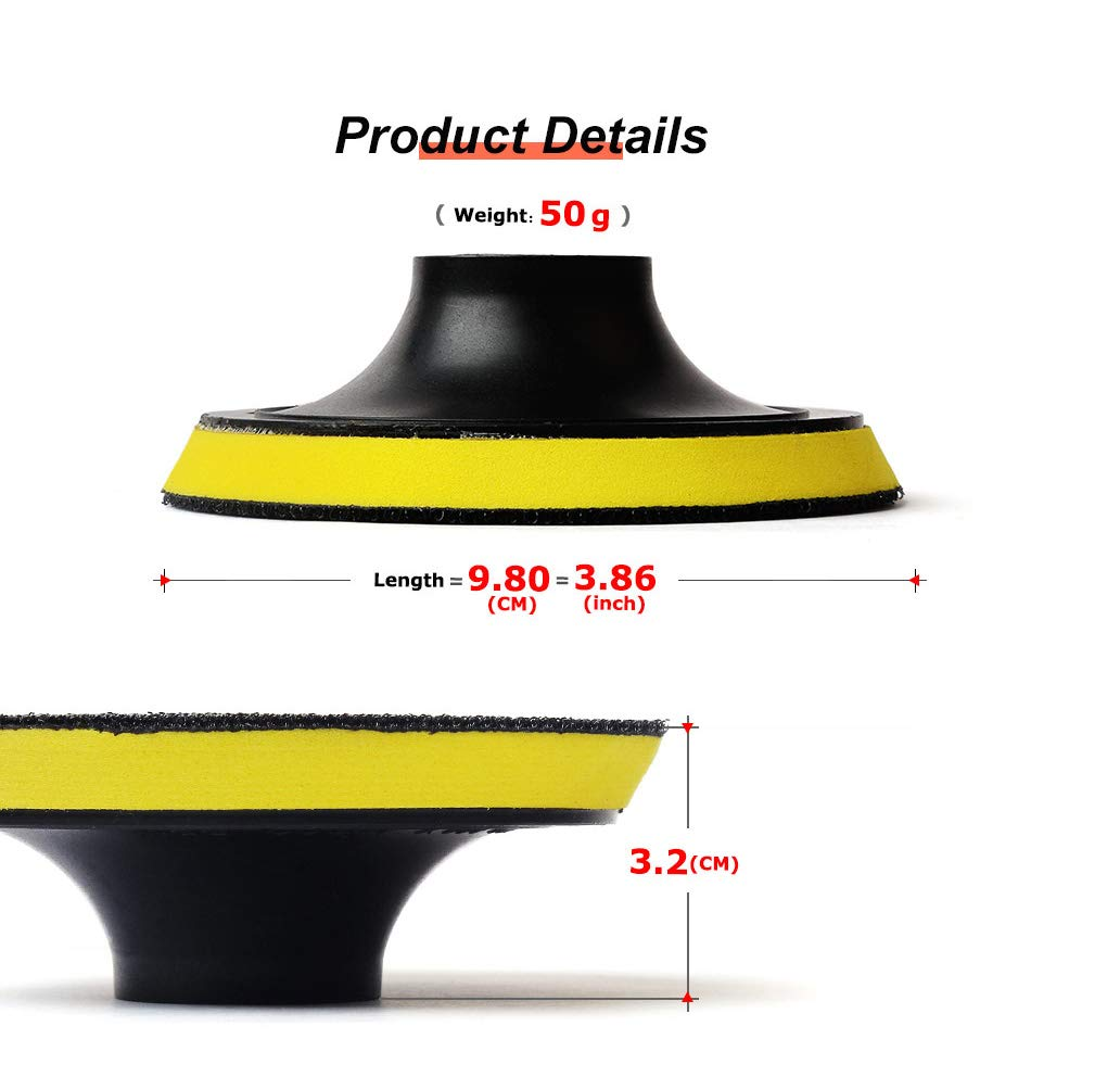 Z-Leap 4 Hook and Loop Backer Pads with 5//8-11 Thread for Sanding Polishing 2-Pcs