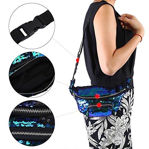 Christmas Makeup Shining Halloween Storage Glittering Shoulder HandBag for Multifunction Party Bag Bag Women w6F1qZ