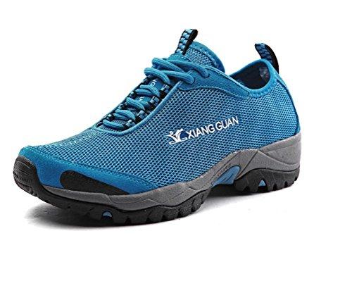 Women's Outdoor Casual Mesh Low Top Flat Shoe Lightweight Breathable Waterproof Hiking Sneaker 3410