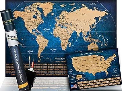 Amazon Com Scratch Maps Bundle For Travel Lovers Scratchable