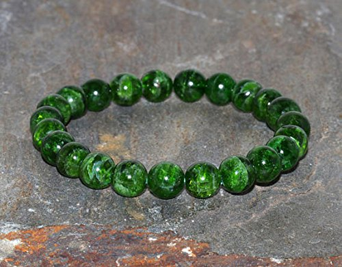 - JP_Beads Diopside Bracelet Grade AA 8mm Natural Green Chrome Diopside Green Bracelet Gemstone Bracelet Diopside Jewelry Peace Bracelet Earth Stone