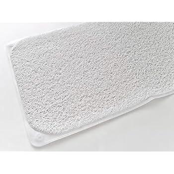 Amazon Com Loofah Anti Slip Bath Mat White 16 Quot X 28