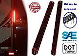 POTOLON 2PCS Red 15'' 11 LED Trailer Light Bar Sealed Stop Turn Tail Park Third 3rd Brake Light Truck Trailer Clearance Marker ID Bar