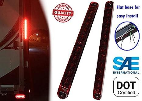 Fine Amazon Com Autosmart 2Pcs Red 17 11 Led Trailer Light Bar Sealed Wiring Digital Resources Dimetprontobusorg