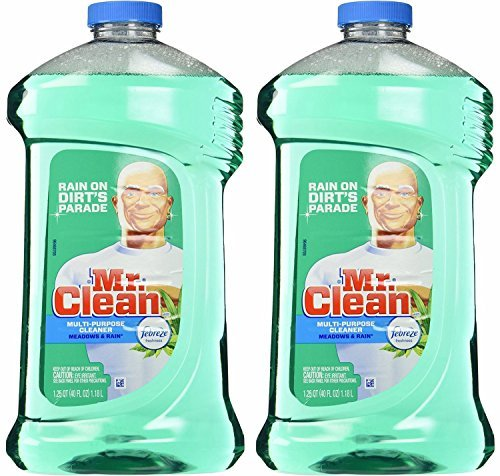 Mr. Clean Meadown & Rain Febreze Freshness Meadows & Rain Multi-Surface Cleaner 40 oz (2 Bottles), 80 Oz, Green