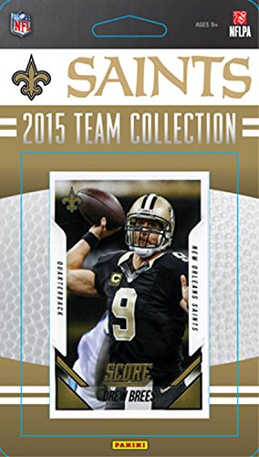 New Orleans Saints 2015 Score Factory Sealed NFL Football Complete Mint 14 Card Team Set with Drew Brees Andrus Peat Rookie Plus (Card Brees Drew)