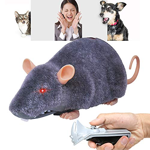 CALOVER Gift Toys for Kids Cat Dog Remote Control Mock Rat Mouse Mice Prank Gag Funny Practical Joke Toy for Holiday Party