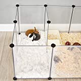 SONGMICS Pet Playpen,Fence Cage with Bottom for
