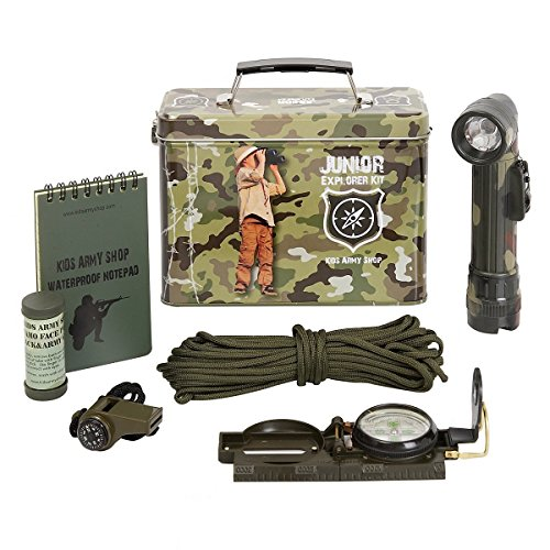 Kids Army Camouflage Junior Explorer Kit, In A Camo Tin - Kids Army Roleplay ()