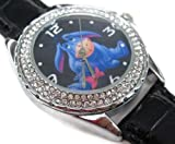 Happy New Year Gifts USFS207 New Leather Diamond Crystal Watch / Disney Eeyore