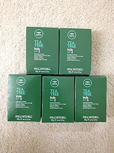 5 X Paul Mitchell Tea Tree Body Bar 150g /5.3 Oz