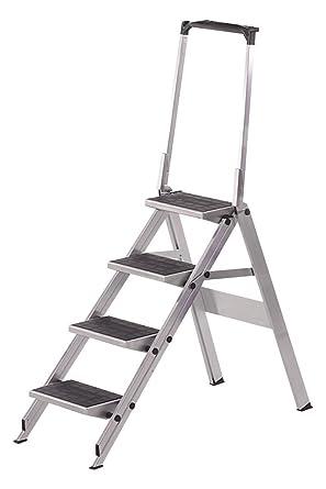 Neolab 2/Escalera de seguridad 4 pasos y barra de seguridad de aluminio altura 3 ft: Amazon.es: Industria, empresas y ciencia