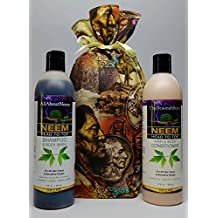 Neem Oil Neem Bark Peppermint Herbal Essentials Shampoo & Conditioner Set 28 Oz Head to Toe Total Body Cleansing System Gifted Wrapped