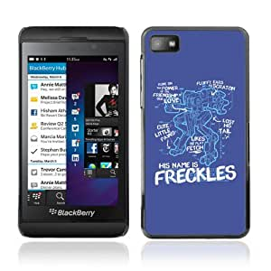 Licase Carcasa protectora para Blackberry Z10 - Freckles Funny Robot Illustration