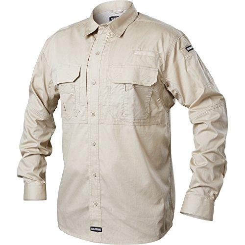 Blackhawk Warrior Wear - BLACKHAWK! Men's Pursuit Long Sleeve Tactical Shirt, X-Large, Stone