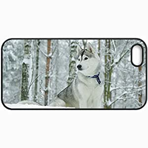 Customized Cellphone Case Back Cover For Case For HTC One M8 Cover , Protective Hardshell Case Personalized Dog Husk Winter Black