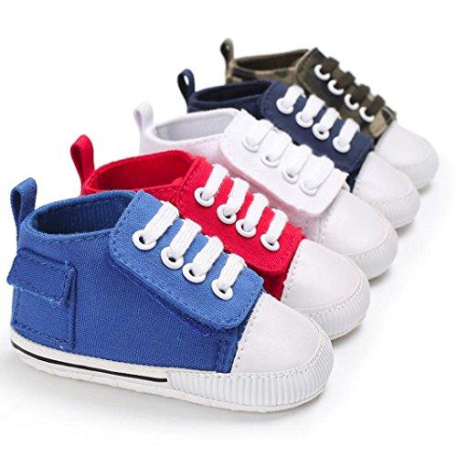 Lotus.flower Baby Girls Boys Canvas Prewalker Soft Sole Antiskid Sneaker Shoes Trainer
