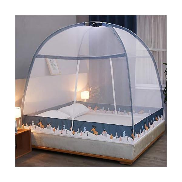 LTJTVFXQ-tarp Zanzariera yurta 1,5 Metri 1,8 m Letto 1,2 casa Tenda Anti-Caduta Completamente Chiusa con Cerniera Blu 1 spesavip