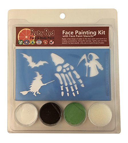 Snazaroo Halloween Face Painting Stencil Kits - Ghoul & Witches (3 (Halloween Face Painting Of Witches)