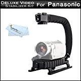 Professional Camcorder Action Stabilizing Handle For Panasonic HC-X920, HC-X920K, HC-V720, HC-V720K, HC-V520, HC-V520K, HC-V110K, HC-V500, HC-V100, HC-V10, HC-V750K, HC-V550K, HC-V250K, HC-V130K, HC-W850K, HC-VX870K, HC-V770K, HC-WX970K HD Camcorder