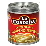 La Costena Green Pickled Jalapeno Peppers 7 oz. (Pack of 2)