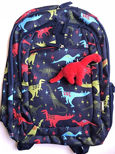 Dinosaur Lightening Backpack, Unique Multicolor Print with Removable Plush ()