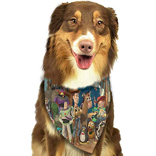 Custom Made Dog Bandana, Puppy Doggie Scarf Kerchief-Entertainment Movie Toy Story Pattern Printing Colorful]()