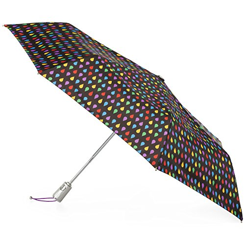 Totes Auto Open Close Umbrella, Black - Bon Ray