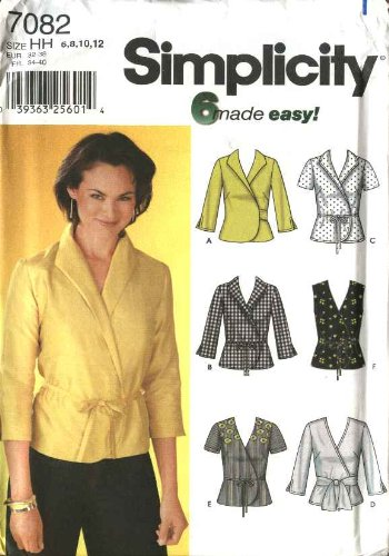 Amazon Com Simplicity Sewing Pattern 7082 Misses Size 6 12 Easy