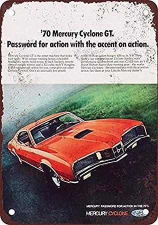 CYCLONE GT PARKING ONLY Vintage Look Metal Sign
