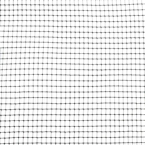 Plastic Mesh Netting - Tenax 60041989 Multi-Purpose Net, 3' x 50', Black
