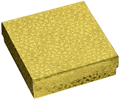 Jewelry Boxes 3 5 X3 5 Pkg Gold