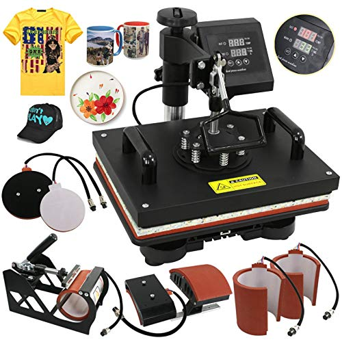 SUPER DEAL PRO 6 in 1 Digital Swing Away Heat Press for sale  Delivered anywhere in USA