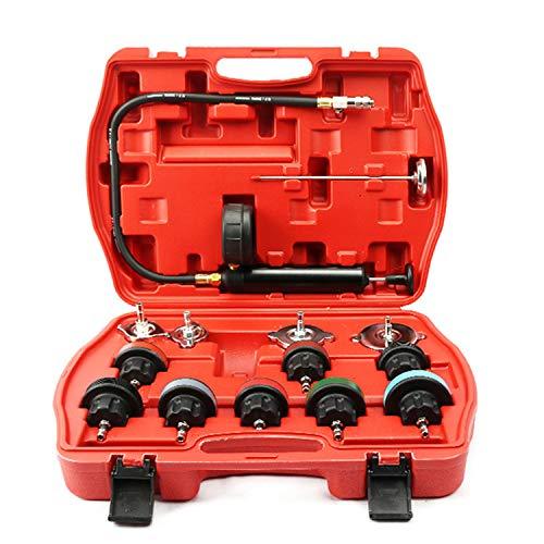 DSstyles 14pcs/Set Universal Cooling System Radiator Pressure Tester Gasket Test Kit Leak Detector by DSstyles (Image #2)