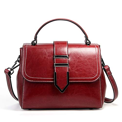 Top Satchel bag shoulder Women Ruiatoo Handle tote Small Handbags Leather 4IgSqZwE