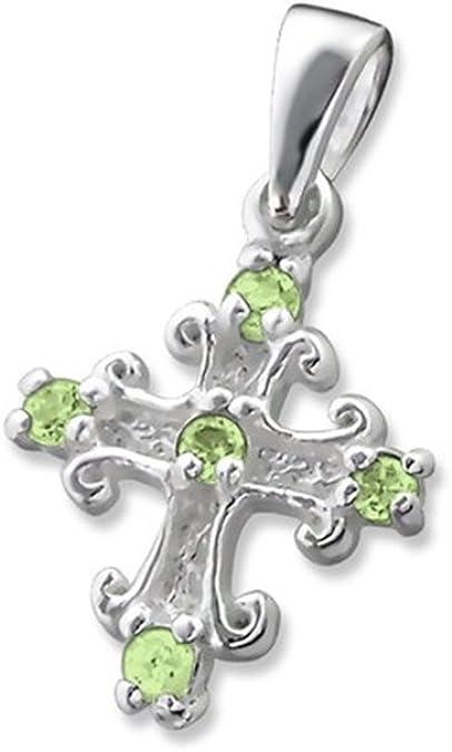 Cross Jeweled Pendants 925 Sterling Silver