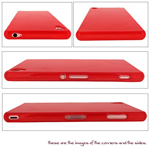 Us-Trendsss Decorated TPU Soft Cover with Rhinestone Protective Case for Sony Xperia Z3 [Smile Hat](Red)