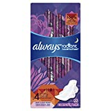 Always Radiant Feminine Pads for Women, Size 4, Overnight Absorbency, Light Clean Scent, 22 Count- Pack of 3 (66 Total Count) (Artwork May Vary)