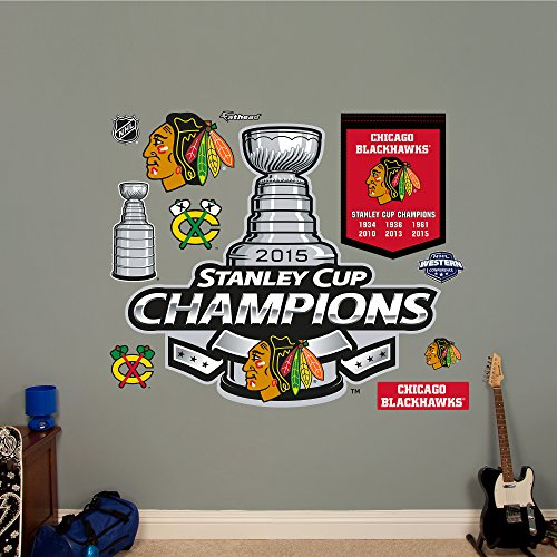 NHL Chicago Blackhawks 2015 Stanley Cup Champions Logo Wall Decal