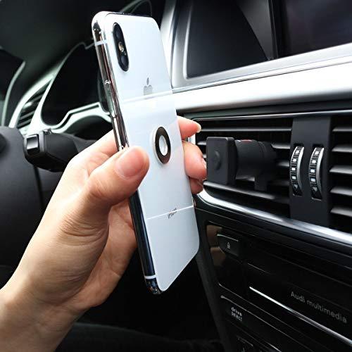 Caseco Mountie Universal Smartphone Car Air Vent Magnetic Mount Holder for iPhone XR XS XS Max X 8 8 Plus 7 7 Plus SE 6s 6 Plus 6 5s 5 Samsung Galaxy S9 S9 Plus S8 S8 Plus Note 9 8 Google LG (Black)