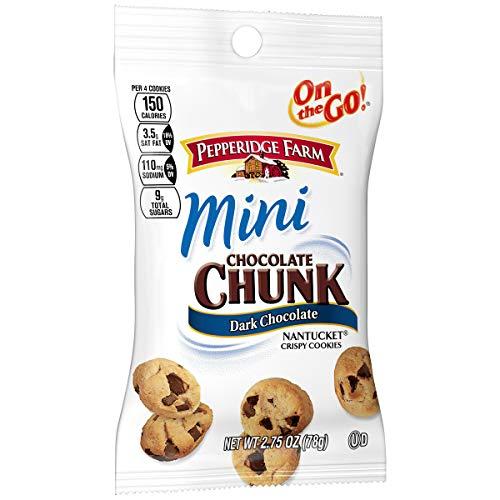 (Pepperidge Farm Nantucket Crispy Mini Dark Chocolate Cookies, Snack Pack, 2.75 oz. (Pack of 36))