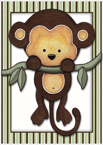 - Little Mod Pod Monkeys - Nursery Art Prints (5x7, Monkey 1)