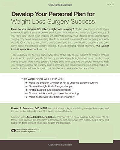 The Weight Loss Surgery Workbook Deciding On Bariatric Surgery